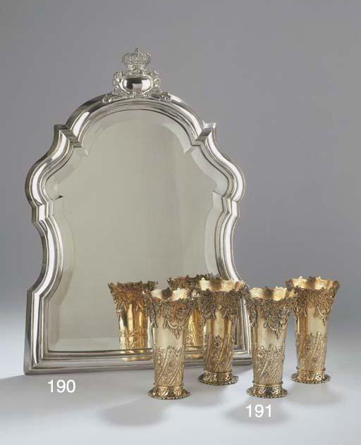 (4) Four silver-gilt English b