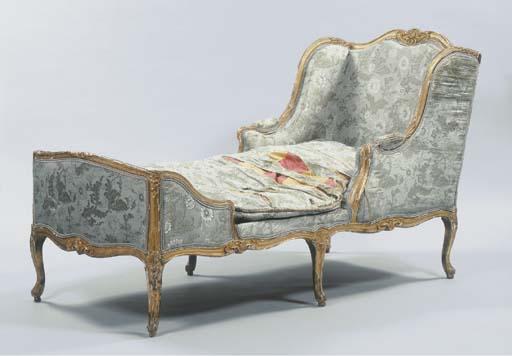 A Louis XV giltwood Duchesse