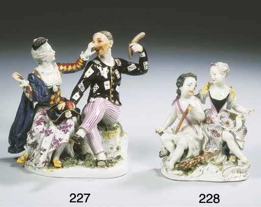 A Meissen porcelain group of c