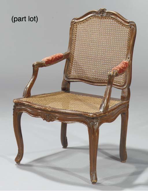 (4) A Louis XV beechwood faute