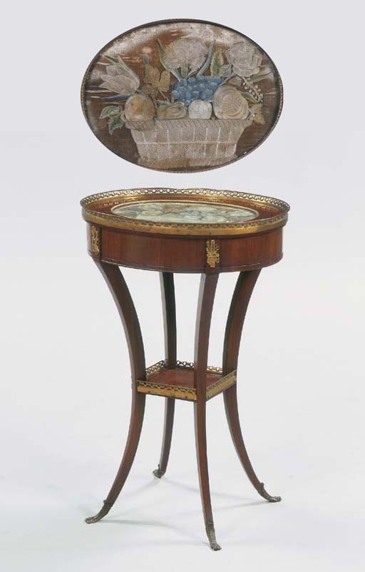 A mahogany ormolu mounted work