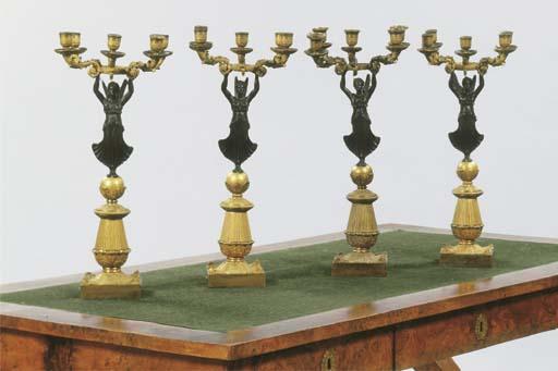 (4) A set of four Restauration