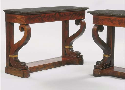 (2) A pair of Restauration orm