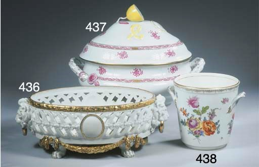(2) A Herend porcelain two-han