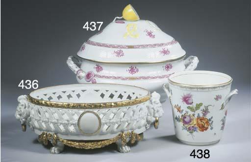 A Berlin KPM-pattern porcelain