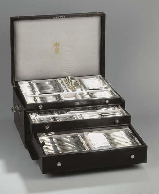 (150) A German silver flatware
