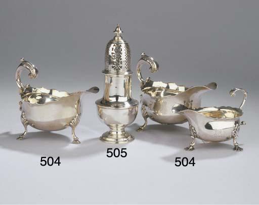 An English silver caster