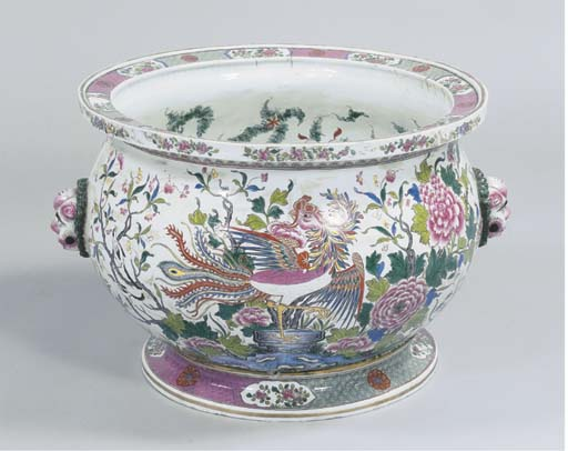 A large Chinese bowl with stan