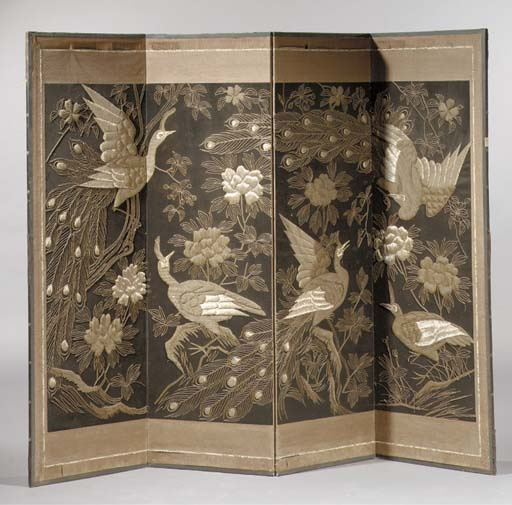 A Japanese four-leaf screen