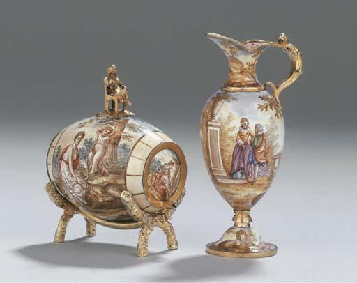 (2) An Austrian silver enamell