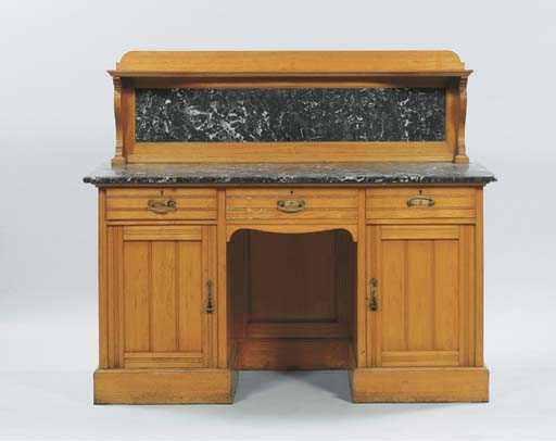 (2) A German ash sideboard