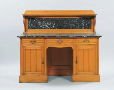 (2) A German ash sideboard