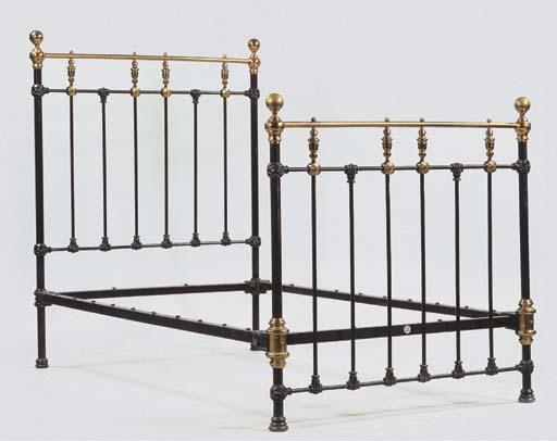 (2) A pair of brass-mounted an