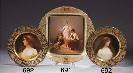 (2) Two Rädler & Pilz-decorate