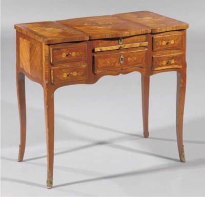 A French tulipwood, rosewood a
