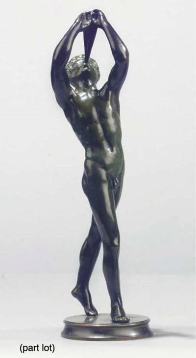 (2)  A bronze figure of a plou