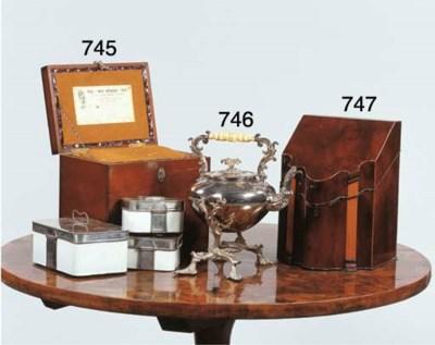 A George III mahogany cutlery