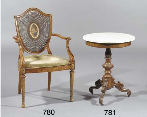 A German mahogany centre table