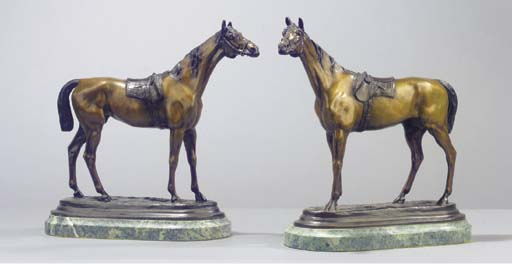 A French bronze equestrian gro