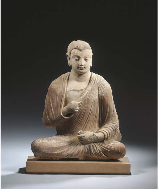 a gandhara stucco figure of bu