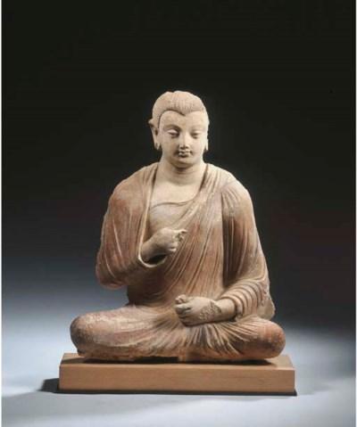 a gandhara stucco figure of bu