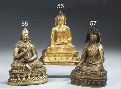 a tibetan bronze figure of a '