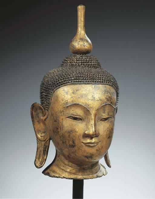 a burmese, shan period, gilt a