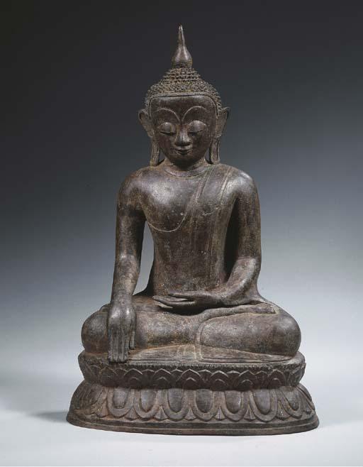 a burmese, shan period, bronze