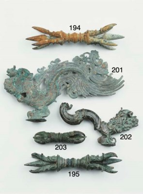 (2) a khmer bronze vajra and a
