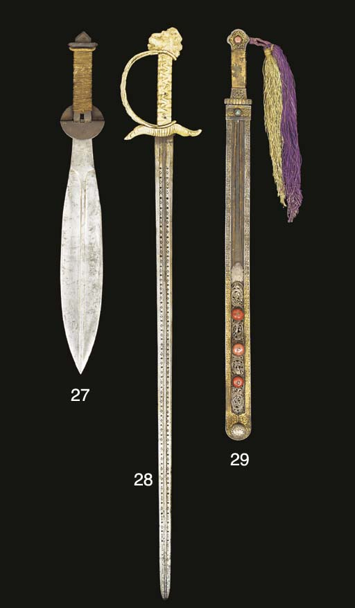 TWO IVORY-HILTED SWORDS