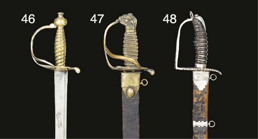 A SILVER-HILTED HANGER
