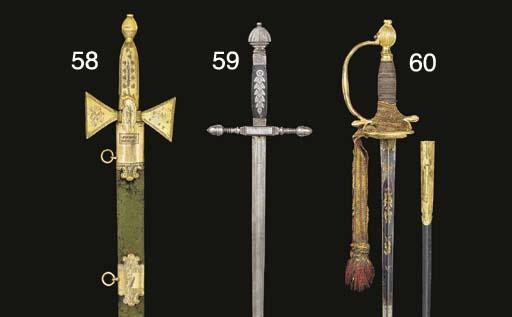 THREE DRESS SWORDS