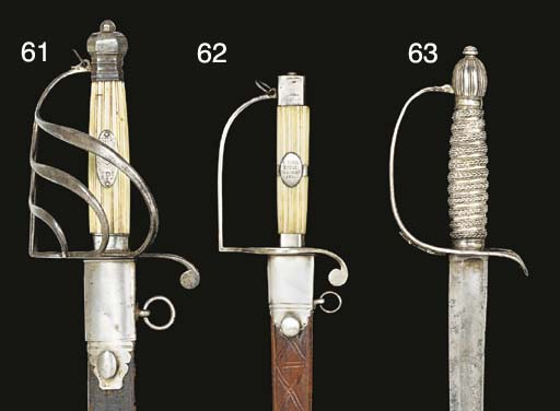 AN ENGLISH SILVER-HILTED OFFIC