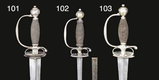 AN ENGLISH SILVER-HILTED SMALL