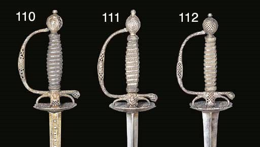 A FRENCH SILVER-HILTED SMALL-S