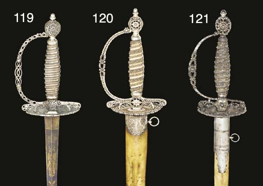 AN ENGLISH SMALL-SWORD WITH CU