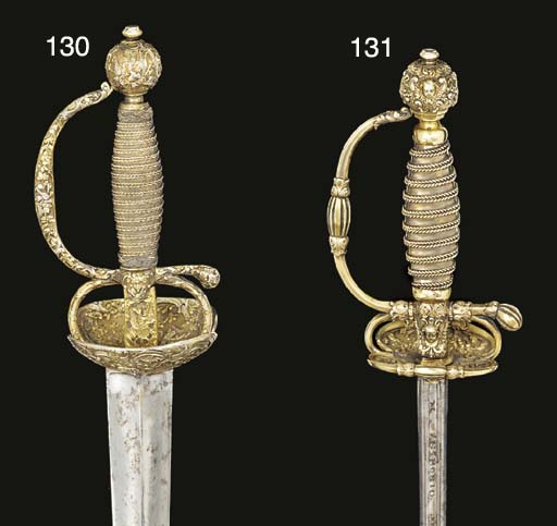 A FINE SMALL-SWORD WITH SILVER
