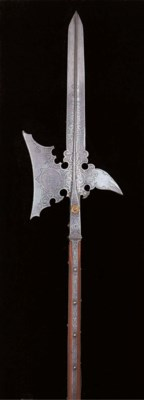 A RARE STATE HALBERD OF THE GU