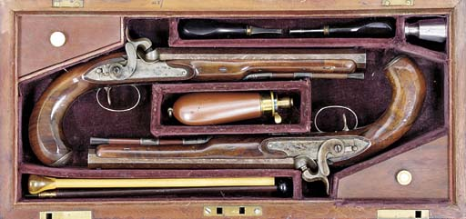 A CASED PAIR OF 28-BORE PERCUS