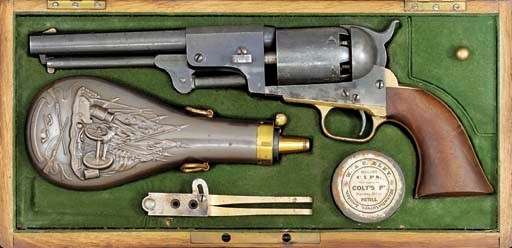A VERY FINE CASED .44 COLT THI