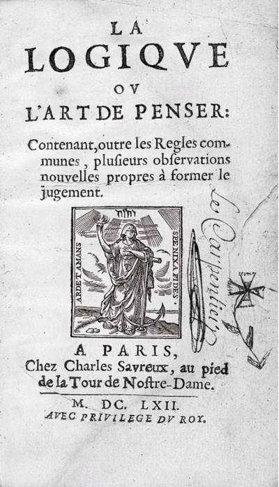 ARNAULD, Antoine (1612-1694) a