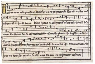 AVE MARIA  -- Xylographic musi