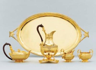 An Elizabeth II silver-gilt te