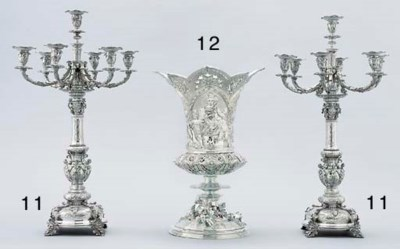 A pair of Victorian silver sev