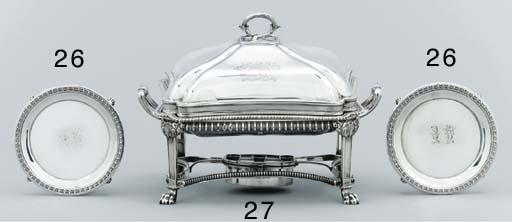 A pair of George III silver wa