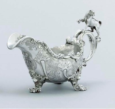 A Victorian silver sauce-boat