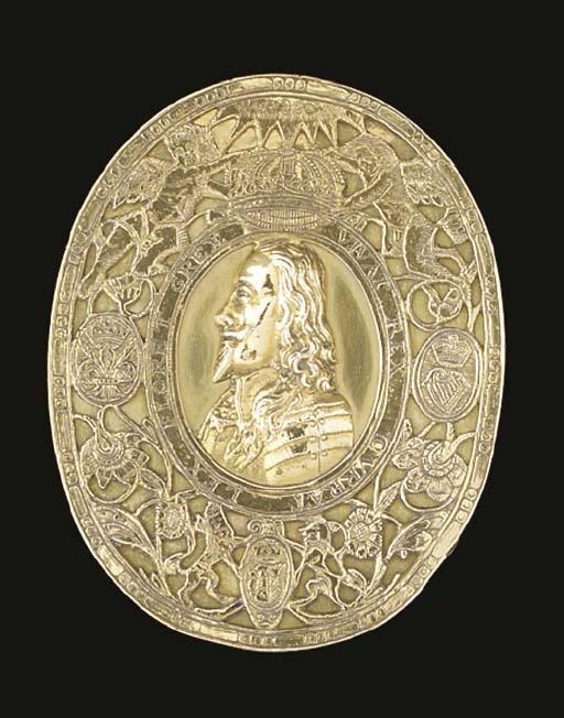 A Charles II gold tobacco-box