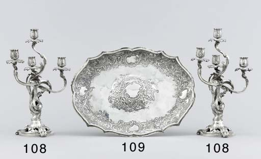 A pair of French silver four-l