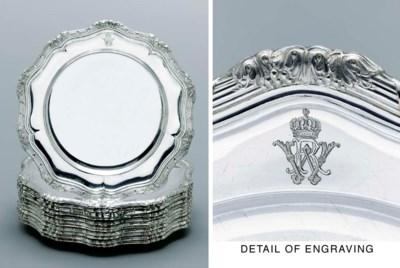 A set of twelve Royal German s