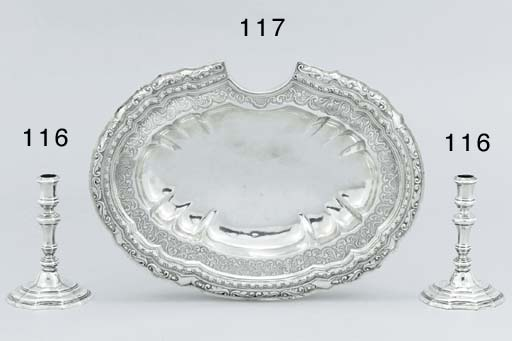 A pair of Spanish silver candl
